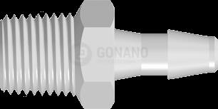 Fitting 1/8-27 NPT - Schlauch ID 4,0 mm weiß