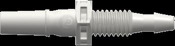Einbaufitting m. (Slip) 10-32 UNF 2,4 mm weiß