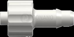 Fitting männlich (Serie 400) f. Schlauch ID 4,8 mm weiß