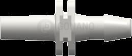 Fitting männlich Slip (Serie 200) f. Schlauch 3,2 mm weiß