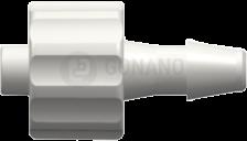 Fitting männlich (Serie 200) f. Schlauch ID 3,2 mm weiß