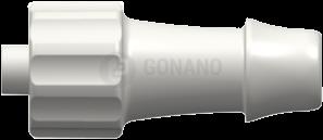 Fitting männlich (Serie 500) f. Schlauch ID 6,4 mm weiß