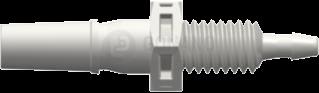 Einbaufitting m. (Slip) 10-32 UNF 1,6 mm weiß