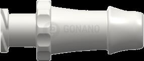 Fitting weiblich (Serie 500) f. Schlauch ID 6,4 mm weiß