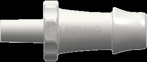 Fitting männlich Slip (Serie 500) f. Schlauch 6,4 mm weiß