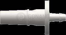 Fitting männlich Slip(Serie 500R)f. Schlauch 1,6 mm weiß