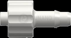Fitting männlich (Serie 400) f. Schlauch ID 4,3 mm weiß