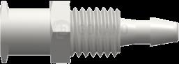Einbaufitting w. (Ohren) 1/4-28 UNF 2,4 mm weiß