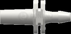 Fitting männlich Slip (Serie 200) f. Schlauch 2,4 mm weiß