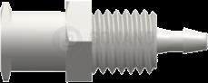 Einbaufitting w. (Ohren) 1/4-28 UNF 1,6 mm weiß