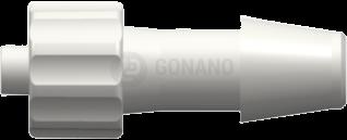 Fitting männlich (Serie 300) f. Schlauch ID 6,4 mm weiß