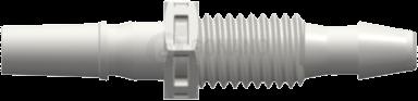 Einbaufitting m. (Slip) 10-32 UNF 3,2 mm weiß